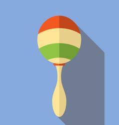 rumba shaker maracas rattle icon musical vector image
