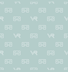 Seamless pattern with vr logos vector