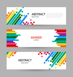 Set horizontal banners with empty place for text vector