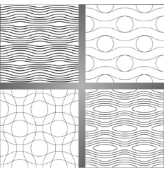 Set of four abstract seamless backgrounds vector image vector image