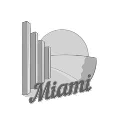 Sign Miami icon black monochrome style vector image vector image