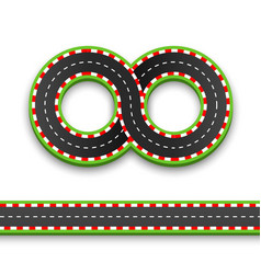 track road infinity road highway vector image