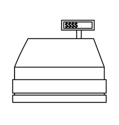Isolated cash register design vector