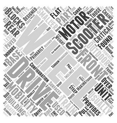Outdoor mobility scooters word cloud concept vector