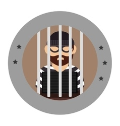 Prisoner avatar character icon vector