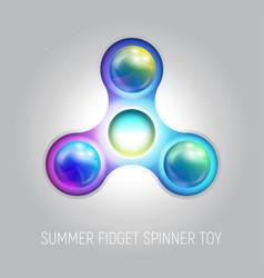 Three blades fidget spinner toy vector