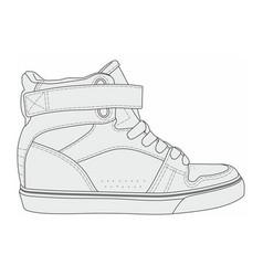Modern stylish sneakers vector