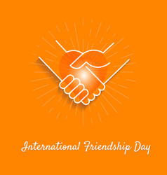 Banner friendship day vector