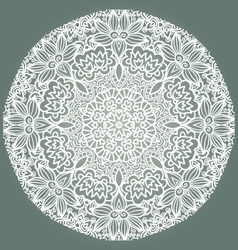 Round ornament napkin vector