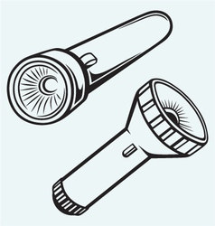 Electric pocket flashlight vector