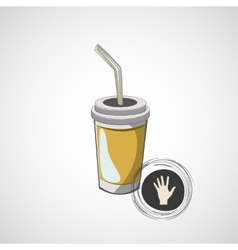 Sketch of cardboard glasses with drink vector