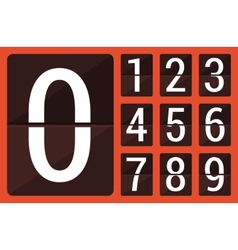 Flat countdown number vector