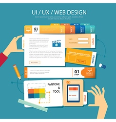 Web designui ux wireframe concept flat design vector