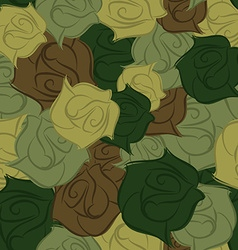 Rose army seamless pattern military texture of vector