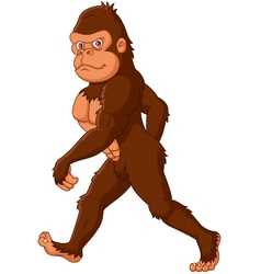 Cartoon sasquatch walking vector