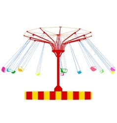 Silhouette atraktsion colorful ferris wheel vector