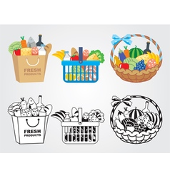 Shopping food vector