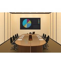 Conference room interior design vector
