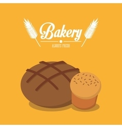 Bread of bakery design vector