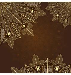 Brown vintage frame vector image vector image
