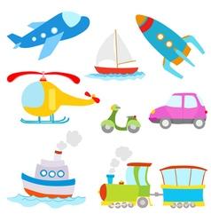 cartoon transportation vector image