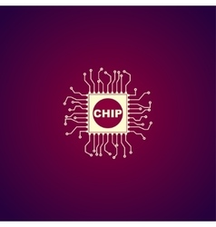chip icon vector image