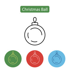 christmas ball isolated minimal icon vector image