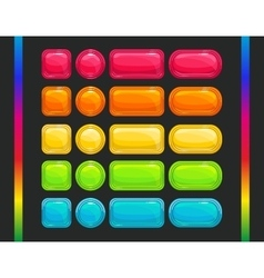 Cool colorful glossy buttons set vector image