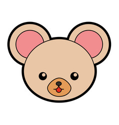 cute mouse face cartoon vector image vector image