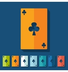 Flat design playing card vector image