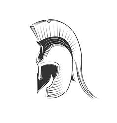 Greek helmet vector