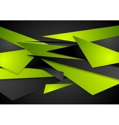Green and black geometric abstract background vector