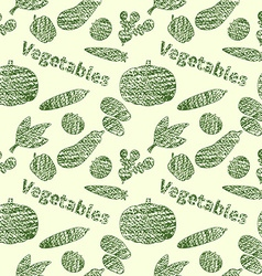 Green veg pattern vector