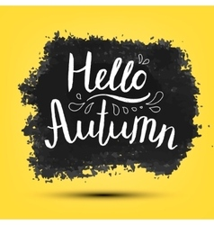 Hello autumn poster card banner vector