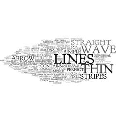 Line word cloud concept vector