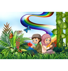 Muslims and park vector image vector image