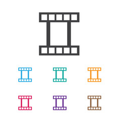of movie symbol on movie strip vector image