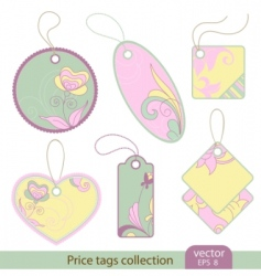 price tags collection vector image vector image
