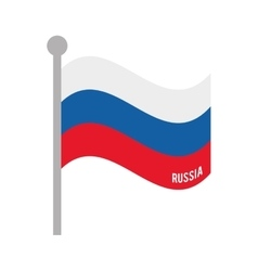 russia patriotic flag isolated icon vector image
