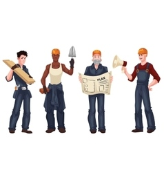 Set of industrial workers - foreman builder vector image