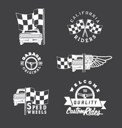 Set of vintage auto service labels vector image