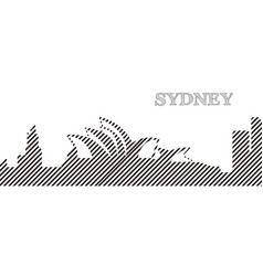 skyline of sydney vector image