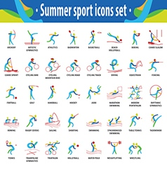 Sport icons color set vector