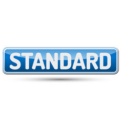 standard - abstract beautiful button with text vector image