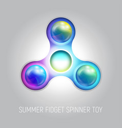 Three blades fidget spinner toy vector