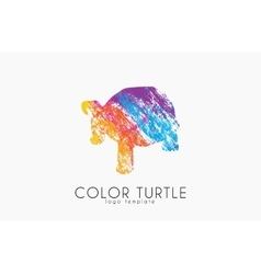 turtle logo design Color turtle Creative logo vector image