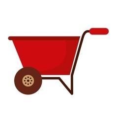 wheelbarrow isolated icon design vector image