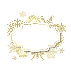 Winter vintage label on snowflakes background vector