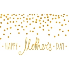 Gold textured happy mothers day inscription vector