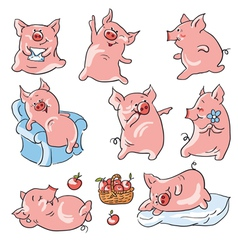 Cartoon pigs vector